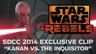 Kanan vs. The Inquisitor - SDCC 2014 Exclusive Clip | Star Wars Rebels
