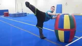 1-30-15 Standing Basic Kick Training for better control in Tricking
