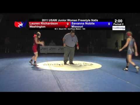 Junior Women 3rd 105 Lauren Richardson WA vs. Savanna Nobile MO