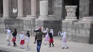 مسرح المدرج الروماني في بصرى الشام بعد إنقاطاع دام لأكثرمن سبع سنوات