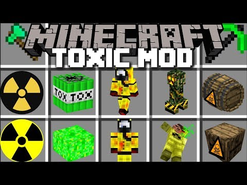 Minecraft TOXIC MOD PLAY WITH NUCLEAR ITEMS AND SURVIVE THE TOXIC APOCALYPSE Minecraft