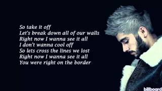 ZAYN - BoRdErSz (Lyrics)