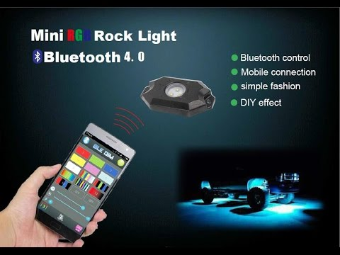Universal Fit High Power RGB LED Rock Light Kit For Jeep Truck SUV Off-Road Boat