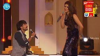 Shraddha Das, Raj Tarun Romantic Love Proposal@ SIIMA 2014