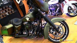 2017 Harley Davidson Street Glide Special Army Custom Bike - Walkaround - 2017 Montreal Motorcycle