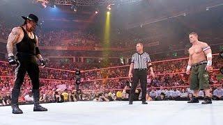 اندرتيكر ضد جون سينا - قتال قوي وشرس - المباراة كاملة