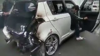 Suzuki Swift Catches Fire in Lahore Autoshow
