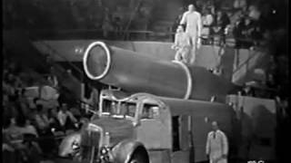 Ringling Brothers Circus 1961 Cannon Launch