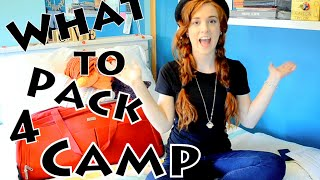WHAT TO PACK FOR SUMMER CAMP ~ Part One Caito Taylo
