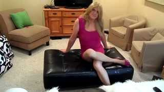HEATHER TGIRL PINK DRESS AND PINK FLATS