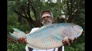 Parrot FISH Prepared by my daddy in my village / Village food factory