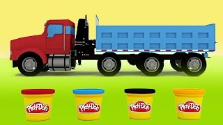 Play Doh Truck Angry Birds House Dinosaurs 3D Animation