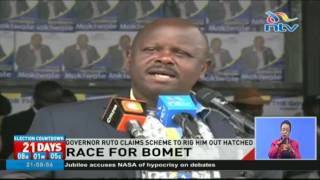 Governor Isaac Ruto claims scheme to rig him out hatched