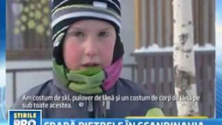 Ger de crapa pietrele in Norvegia  -42 de grade Celsius!