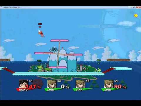 Super Smash Flash 2 One on Three Battles