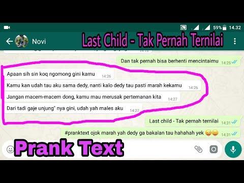 Prank Text Pacar Temen Sendiri wkwkwk || Pake Lagunya Last Child - Tak Pernah Ternilai