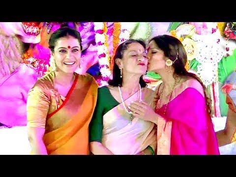 Xxx Mp4 Kajol With Family At Durga Puja 2017 Full Video HD 3gp Sex