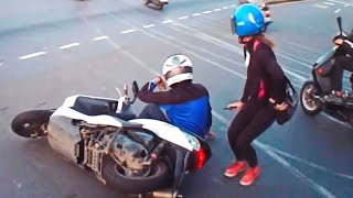 Scooter Crash Scooter Crash Compilation Driving in Asia 2015 Part 18