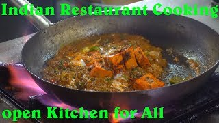 Paneer Tikka Masala Making in an Indian Restaurant | Open Kitchen for All