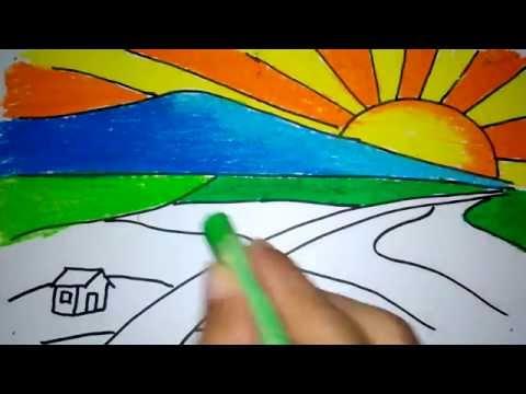 Xxx Mp4 Cara Menggambar Matahari Terbit Di Pegunungan Untuk Anak SD 3gp Sex