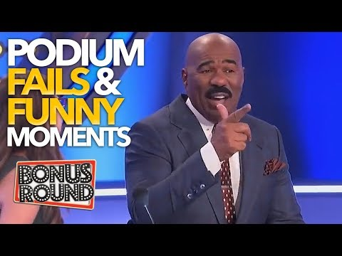 EPIC PODIUM Family Feud Fails & Funny Moments With Steve Harvey