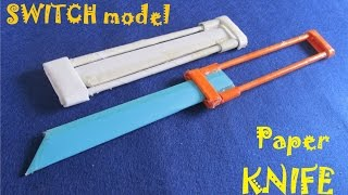 How to make a Paper OTF Knife - Toy weapon