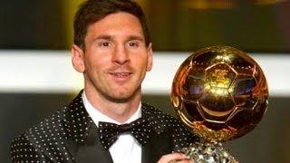 Lionel Messi Wins Ballon d'Or 2012