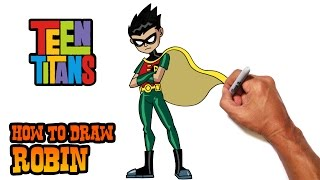 How to Draw Robin (Teen Titans)- Step by Step