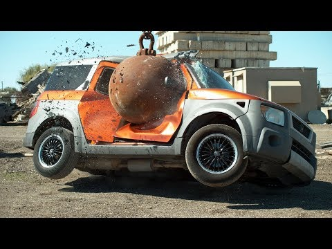 4 Ton Wrecking Ball in Slow Motion The Slow Mo Guys