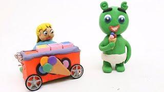 Gummy Bear Ice Cream Melting Play Doh Babies Superhero Cartoon Stop Motion Movies