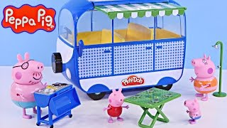 NEW Peppa Pig Holiday Campervan Trip | Peppapig Toy Episode Play Doh 2015 DCTC Videos