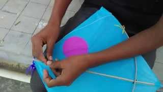 How to tie knots in kites ( Patang kanna/kanne)