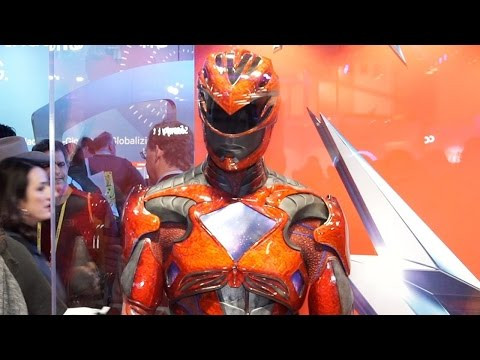 Up Close with the New Power Ranger s Movie Costume CES 2017