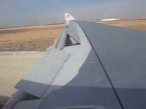 Etihad Airways A330 202 landing in Amman window view