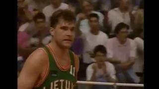 1992 Croatia Lithuania Sabonis Kukoc Radja Marculionis Petrovic