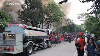 Fire hits UP Diliman Shopping Center