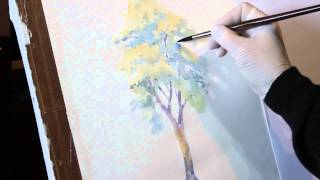 How to draw a tree watercolor - drawing lessons Artacademia