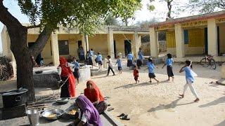 Food Preparing in Girls School at Indian Small Village Junjani, Bhinmal, Rajasthan, जुंजाणी, भीनमाल