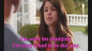 I won't apologize music video (Selena and Taylor) and lyrics - Selena Gomez and The Scene