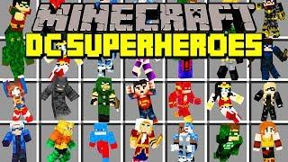 Minecraft DC SUPERHEROES MOD! | THE FLASH, ARROW, SUPERMAN, BATMAN, & MORE! | Modded Mini-Game