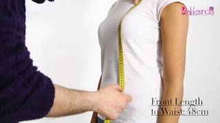 How to measure body for evening and wedding dresses