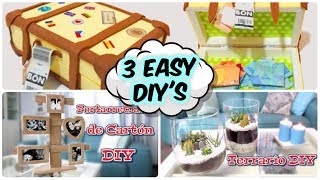 3 Easy ideas to make a present. Easy crafts and DIY's