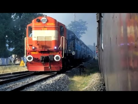 Unbelievable Scenes : Indian Railways Racing Trains METRE Gauge vs BROAD Gauge