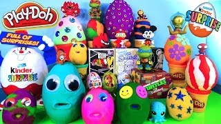 20 Play Doh Eggs Disney Planes Cars Mickey Mouse Vinylmation Simpsons MLP Toys Kinder Surprise Egg