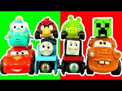 Cars2 Wheelies Radiator Springs Thomas The Tank Angry Birds Micro Drifters Playdoh Boulder Toy Story