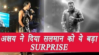 Salman Khan got surprise visit by Akshay Kumar on his Dabangg Tour | FilmiBeat