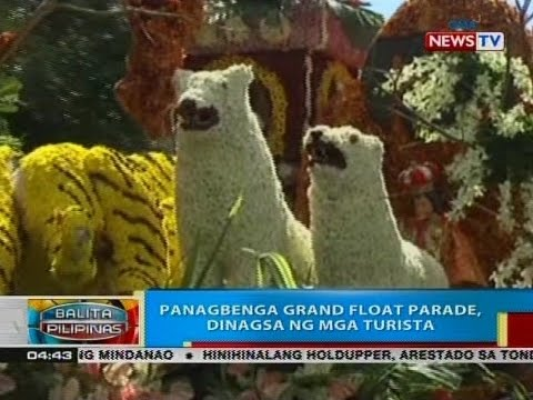 BP: Panagbenga grand float parade, dinagsa ng mga turista