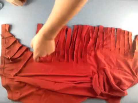 Manualidades cómo hacer una camiseta con escote de espalda