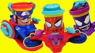 Gertit Pretend Play with Play Doh Super Heroes CAN-HEADS