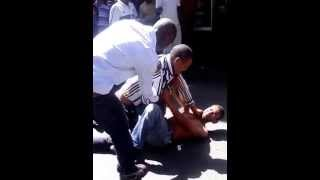 Old Guys Fighting over Young Girl In Belvile Capetown South Africa